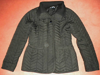 Girls black quilted jacket Bluezoo 11-12 yrs