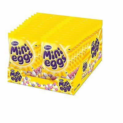 Cadbury Mini Eggs Milk Chocolate 1-24 Bags Gift Party Christmas Fillers Full Box