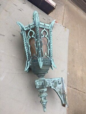 Lt 62 Antique Exterior Single Bronze Wall Sconce