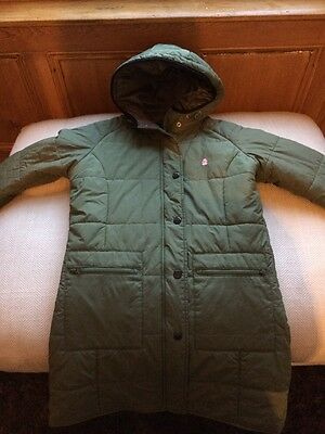 United Colours Of Benetton Long Khaki Green Jacket Age 10 Immaculate Condition