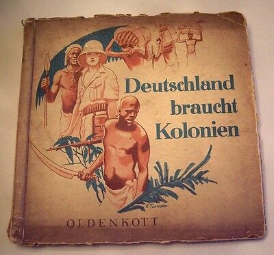 German Needs Colonies,1934 Cigarette Cards Album Complete With All 150 Pictures
