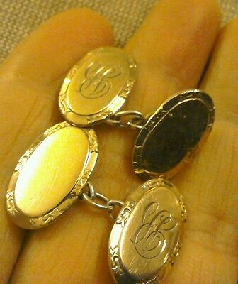 9ct gold on silver cuff links