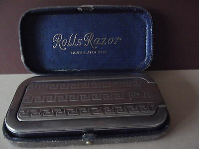 Rolls Razor Imperial Silver Plated Case Boxed Vintage