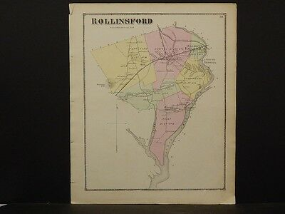 New Hampshire, Strafford County Map, 1871, Town of Rollinsford, N5#44