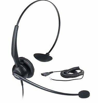 Yealink YHS32 On Ear Headset with Microphone for Enterprise IP Phone