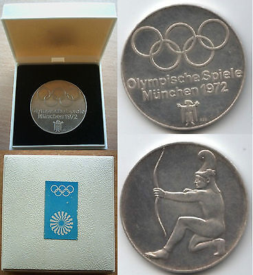 Orig.commemorative medal   Olympic Games MÜNCHEN 1972 - 925 Silver // in Box !!