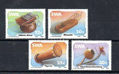 set of 4 mint traditional craft themed stamps from south west africa
