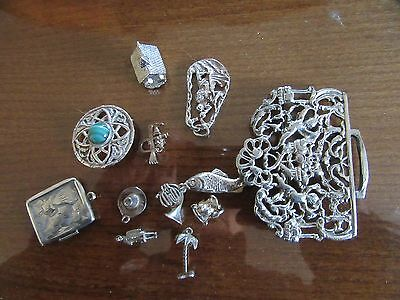 Vintage solid silver nurses buckle inc job lot