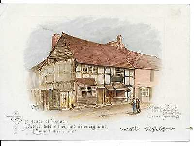 "Large ""sweet Home Family Soap"" Victorian  Trade Card Shakspeare's House"