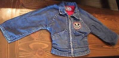 50s RARE Vintage Children's Mickey Mouse Mouseketeers Wrangler Blue Bell Jacket