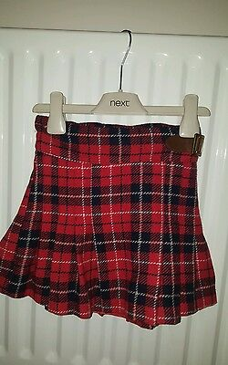Girls Next tartan skirt age 4-5 years