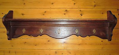 Antique solid oak French pan rack