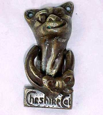 Antique Brass Bonzo Cheshire Cat Door Knocker