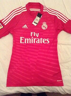 Real Madrid Pink Away Shirt. Adidas Size Small. Brand New With Tags
