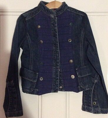 Girls Replay & Sons Military Style Denim Jacket Size XXS Age Approx 5 Years