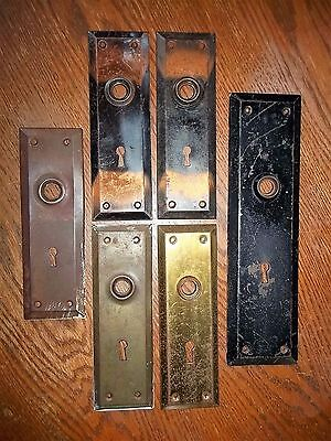 Lot of 6 VINTAGE DOOR KNOB BACK PLATES