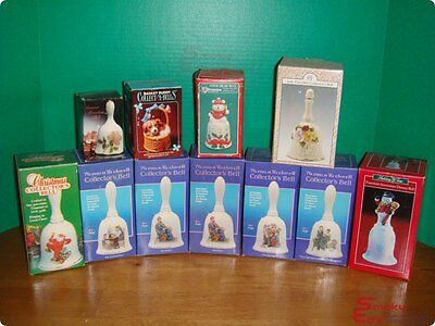 Assorted Norman Rockwell & Others Collector's Porcelain Bells • 11 Bells Total