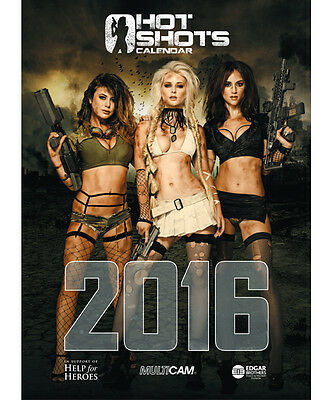 Hot Shots Calendar 2016 Limited Edition Signed Copy Donations to Help For Heroes