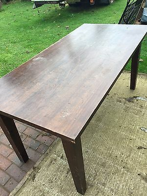 Qty - Large Quality Dining Tables - Restaurant, Home Old Vintage Pub Bar Table