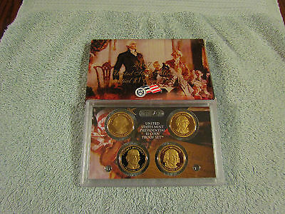 2007 S Presidential Dollar Proof Box Set US Mint 4 Coins