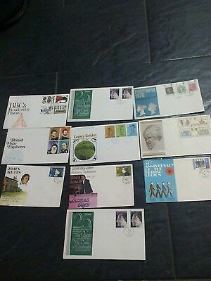 10 x first day covers and envolope covers 1970s