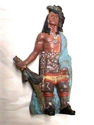 Native American Statue Antique Resin Traditional Hand Made Original #2