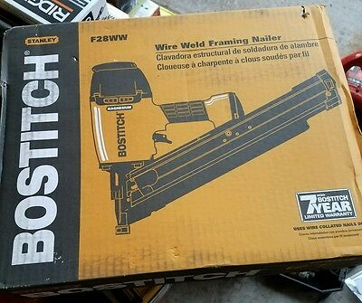 NEW BOSTITCH F28WW 28° Clipped Head Wire Weld Framing Nailer