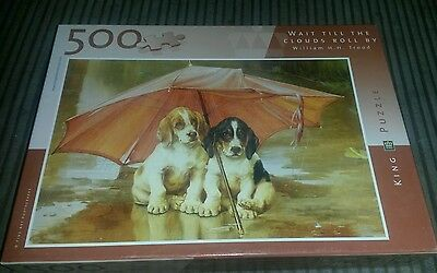 King 500 piece puzzle. Dogs. Wait till the clouds roll by. William HH  Trood