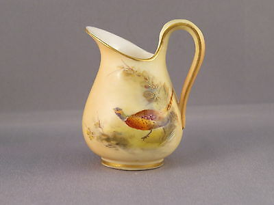 Rare Worcester (Grainger) miniature Jug with hand painted Pheasant 1901