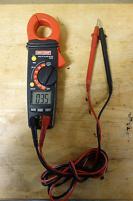 Craftsman Digital Clamp-On Ammeter for AC/DC Current Test Equipment Hand Tool