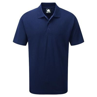 50 x CLASSIC NAVY POLO SHIRT IN MEDIUM by ORN WORK OFFICE GOOD QUALITY £1 Each