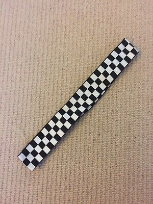 Ex Police Black And White Chequered Cap Band.
