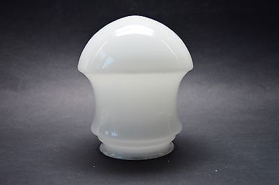 CZECH ART DECO 30's White Milk Layered Glass light shade