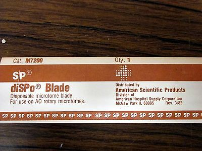 American Scientific Disposable Microtome Blades (Qty:12) M7200