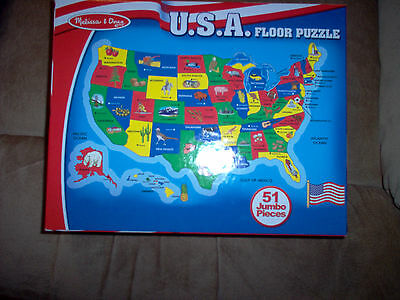 Melissa and Doug USA Floor Puzzle #440