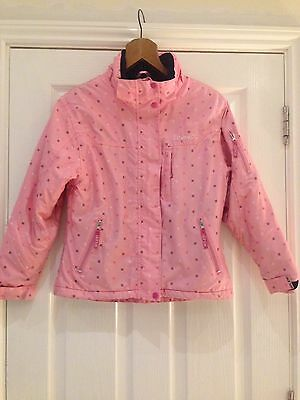 Girls Coat Age 11-12 Pink Ski Jacket Winter Aloha