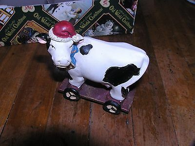 Christmas holstein Dairy Cow decor-new with tags