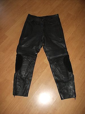 J & S Leather Motorcycle Motorbike Trousers Size 12