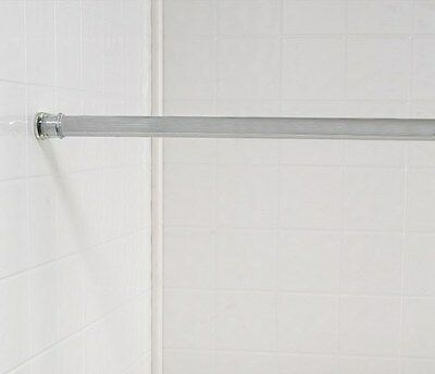 Carnation Home Fashions Chrome Steel Shower Curtain Tension Rod Size 41-76