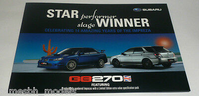 Subaru Impreza GB270 Limited Edition Brochure (2007)