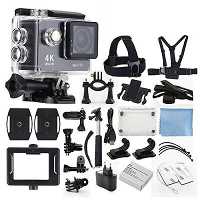 4K Ultra HD DV 12MP 1080p 30fps Sports Action Camera + Full Accessory Bundle