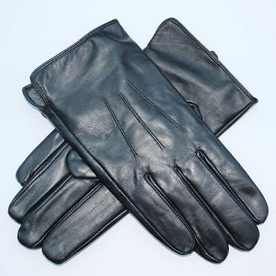 MEN JASMINE SILK SOFT LEATHER WINTER GLOVES WARM LINING OUTSIDE *free delivery**