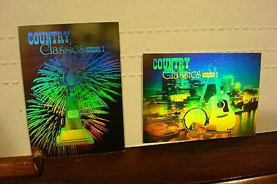 Country Music Trading Cards Collect-A-Card Set Of 100 Plus 2 Hologram (1992) Ex
