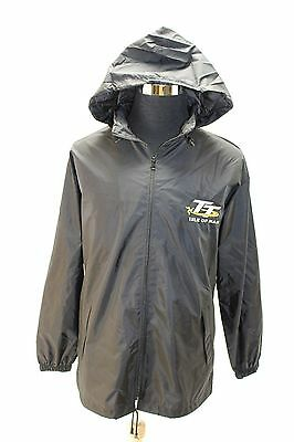 NEW Isle of Man TT Races Official BLACK Outer Shell Jacket MEDIUM M Motorcycle