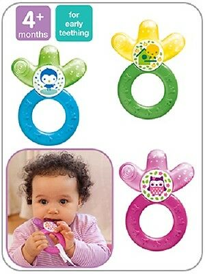 MAM Cooler Water Cooling Hard/Soft Baby Teether/Teething Ring 4M+ Teething Toy