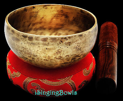 New Tibetan Singing Bowl: Cup 4 3/8', Contemporary, C5 & F#6. VIDEO