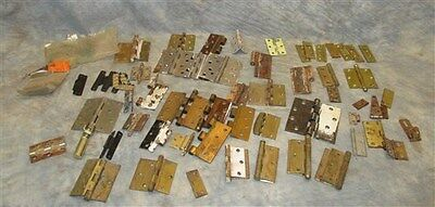 Lot Assorted Metal Hinge Parts Architectural Salvage Reclaimed Hardware b