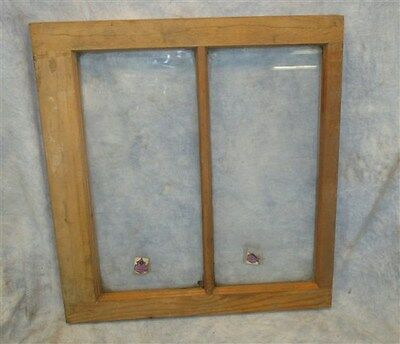 Old Wood Window Frame 2 Glass Panes Rustic Shabby Chic Cottage 24 x 22 a1