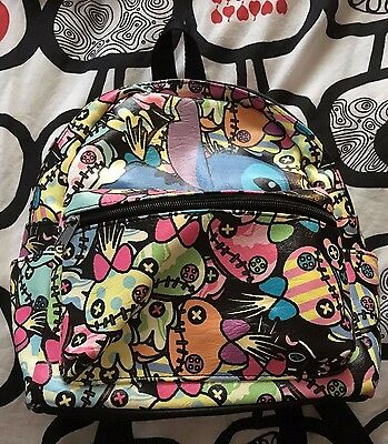 Faux Leather Disney Lilo and Stitch Scrump Mini Backpack! Rare HTF Only in Store