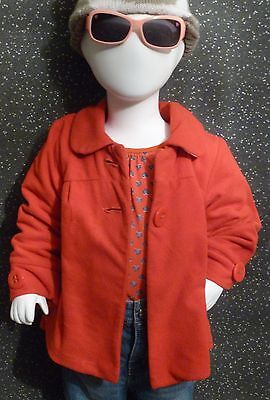 Girls Next Red Fleece Coat with Cotton Lining Age 2-3 years